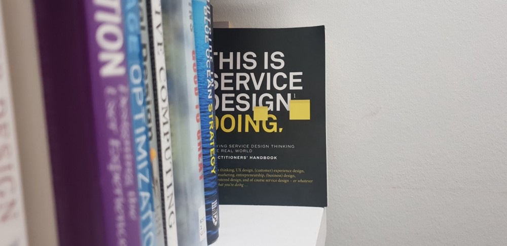 An ironic holistic level oversight. Whilst the book makes a good read, the latest Service Design book does not fit on anyone's shelf thanks to its unconventional shape. Indeed, the preface highlights that this book was itself a service design project…