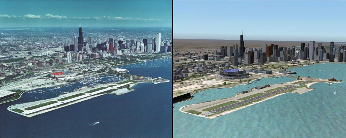 Meigs Field Flight Simulator 2004 Comparison