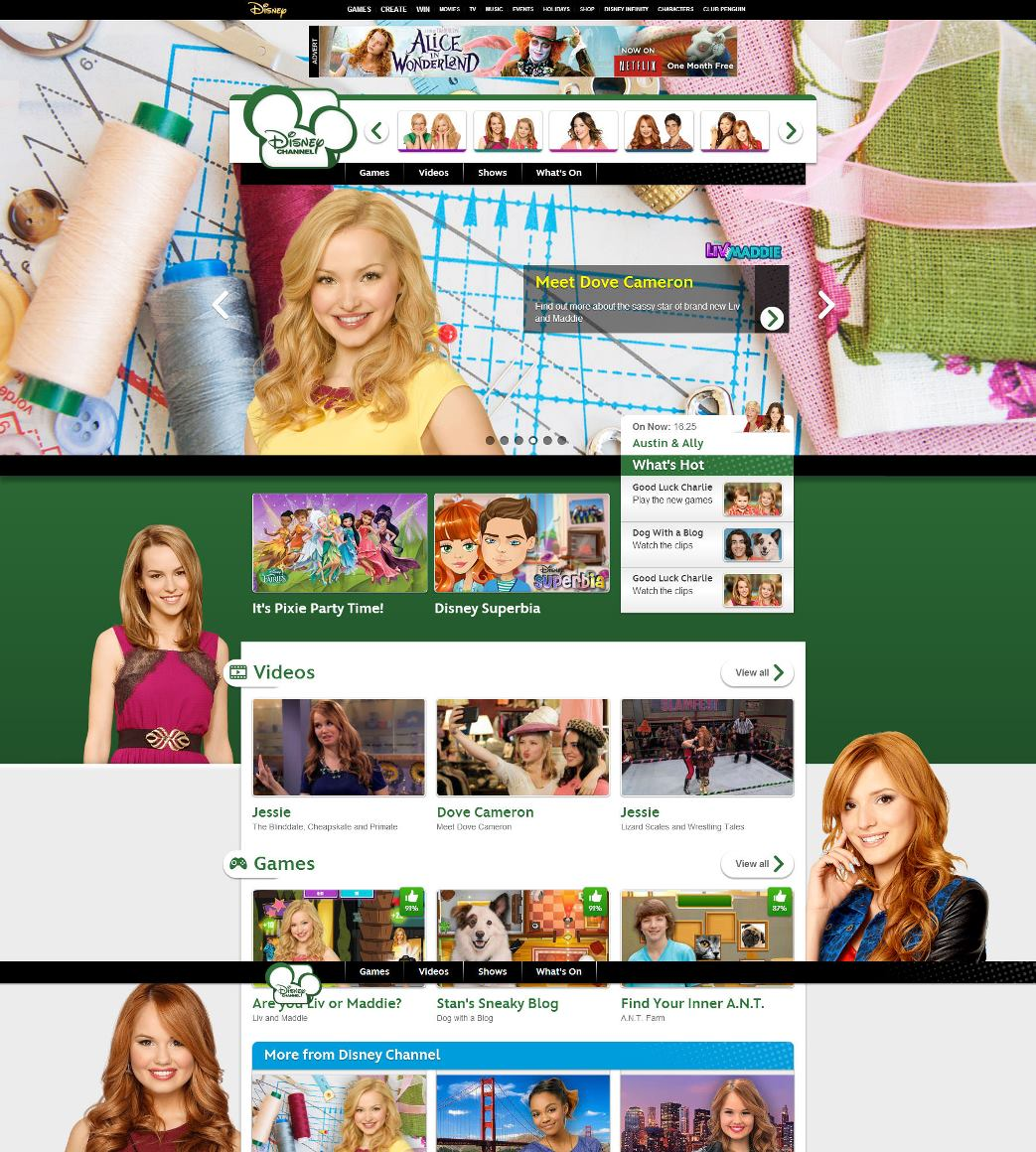 Improving engagement on the Disney Channel website