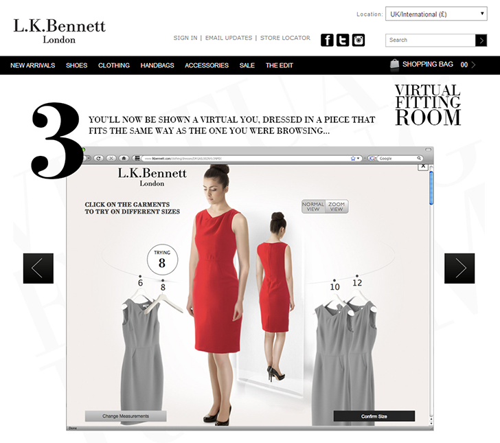 LK bennett virtual fittingroom