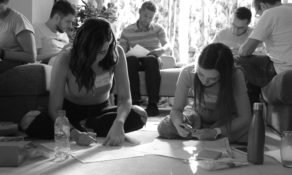 The team was focused during the ideation session, where they each had to come up with 6 ideas in 6 minutes.