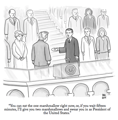 From Sotiris' talk on present bias in our decision making. Credit Paul Noth.