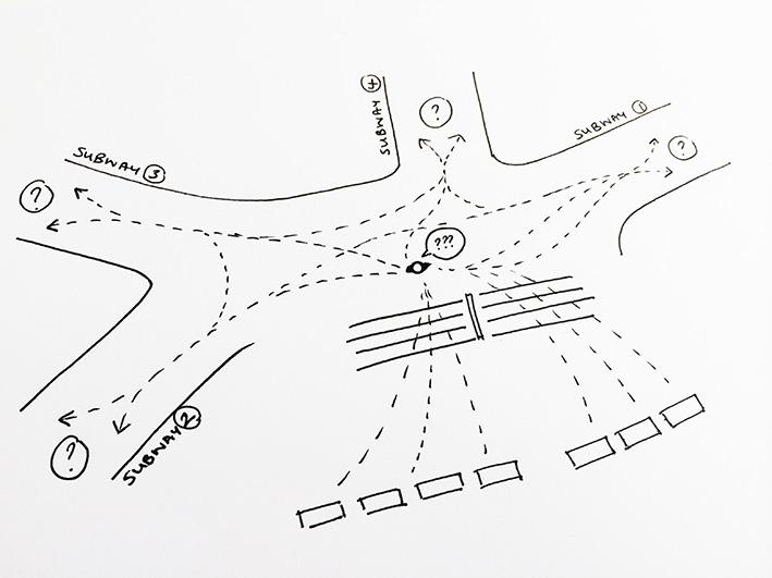 Confused Old Street sketch