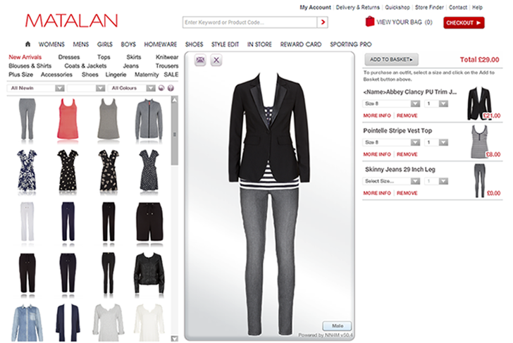 Matalan Virtual Dressing Room