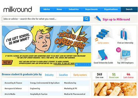 Milkround - Improving online offerings