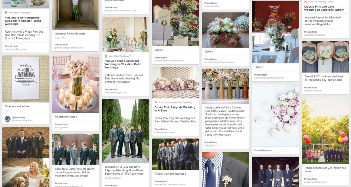 Pinterest wedding moodboard