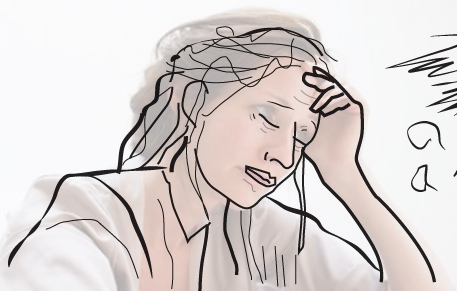 stressed person overlay